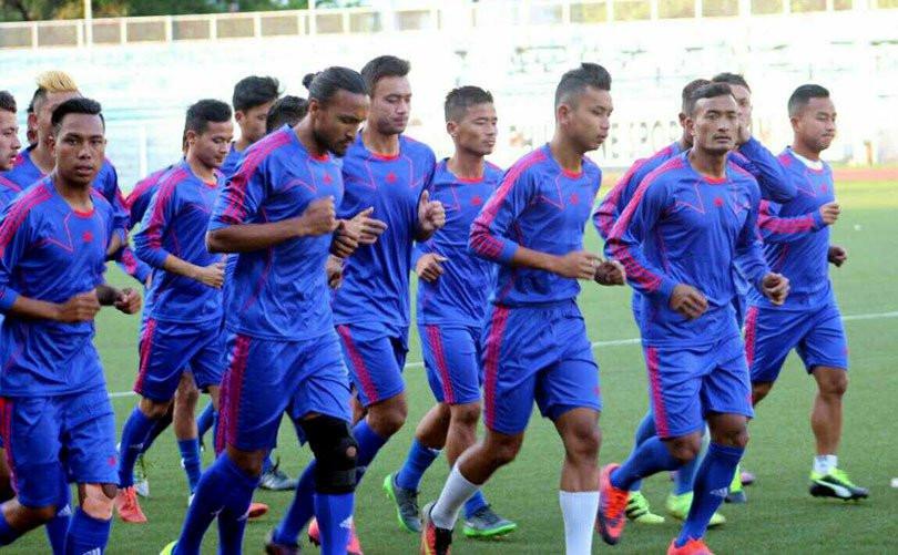 नेपाली फुटबल टिम।