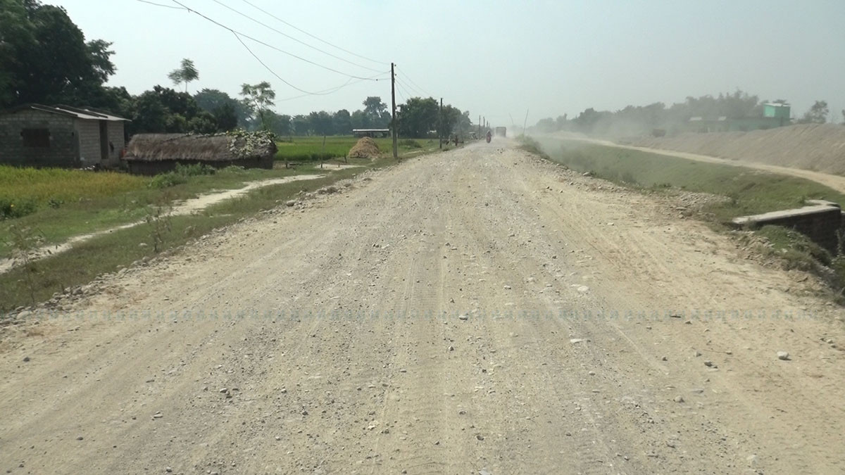 सडक  बेथिति : बेलबास-बेथरी सडकको निर्माण कार्य रोकियो