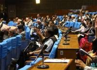 संघीय संसदको संयुक्त बैठक सञ्चालन नियमावली पारित गर्दै। तस्बिरः निशा भण्डारी