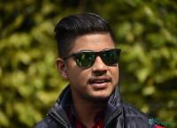 १२ औं संस्करणको आइपिएल खेल्न बुधबार दिल्ली जान लागेका सन्दीप लामिछाने मंगलबार राजधानीमा पत्रकारसँग कुरा गर्दै। तस्बिरः नारायण महर्जन/सेतोपाटी