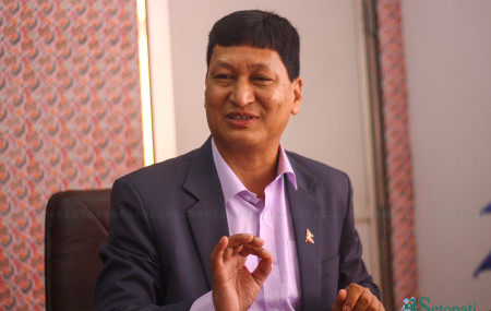 काठमाडौंका मेयर विद्यासुन्दर शाक्य। तस्बिरः निशा भण्डारी/सेतोपाटी