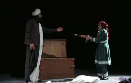'ता रेहाए' नाटकको एक दृश्य।