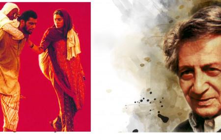 'तमस' उपन्यासका लेखक भीष्म साहनी (दायाँ) र त्यही उपन्यासमा आधारित टेलिशृंखलाको दृश्य, जसलाई गोविन्द निहलानीले निर्देशन गरेका हुन्। तस्बिर सौजन्य: द वायर